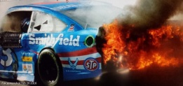 almirola wrecks atlanta